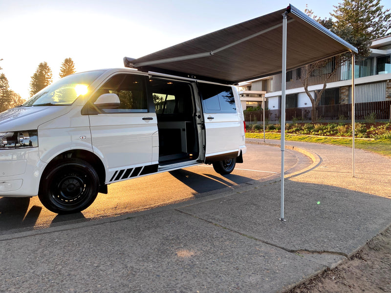 Fiamma F45s 3.0m wind-out Cassette Awning & Brackets for LWB Multivan, Transporter, & Caravelle
