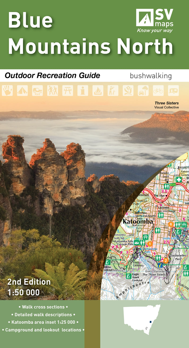 Hema Maps Blue Mountains North Map