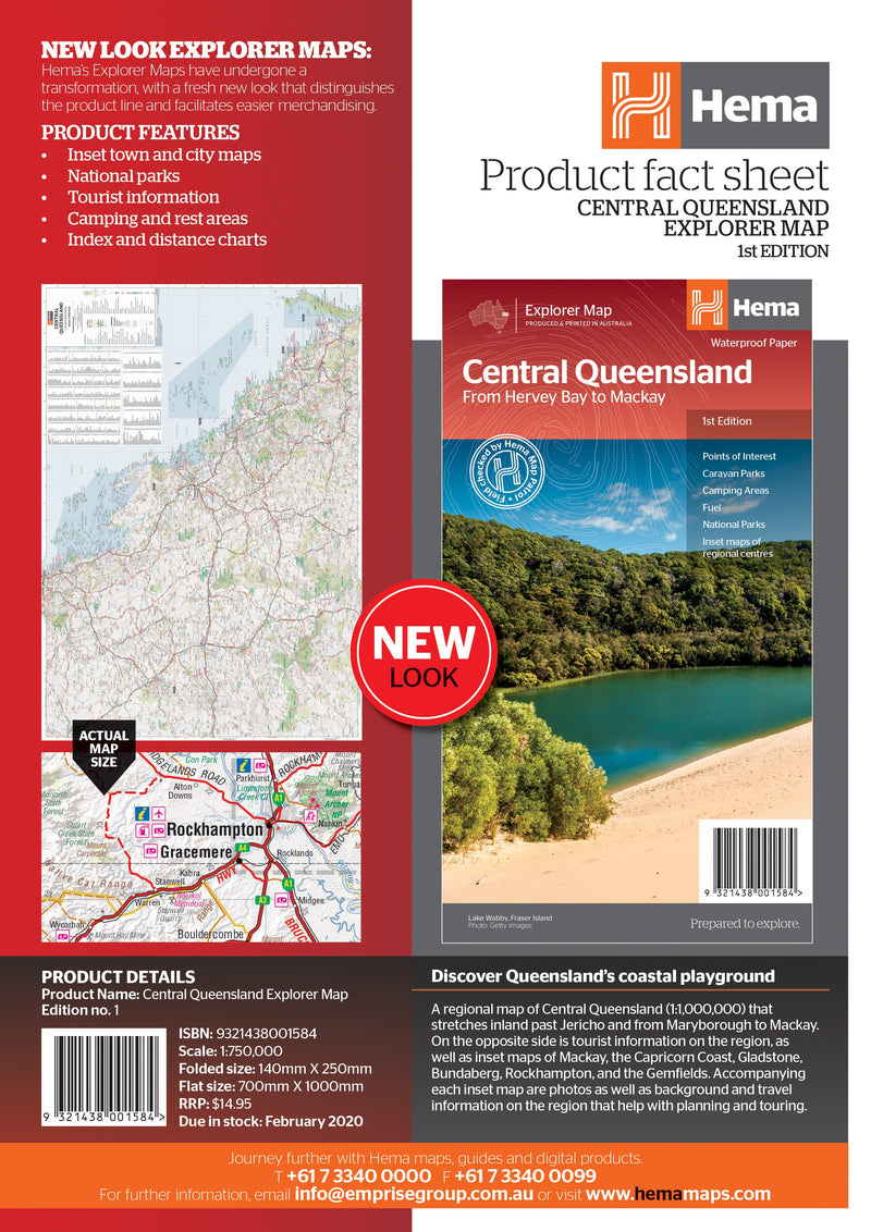 Hema Maps Central Queensland Map