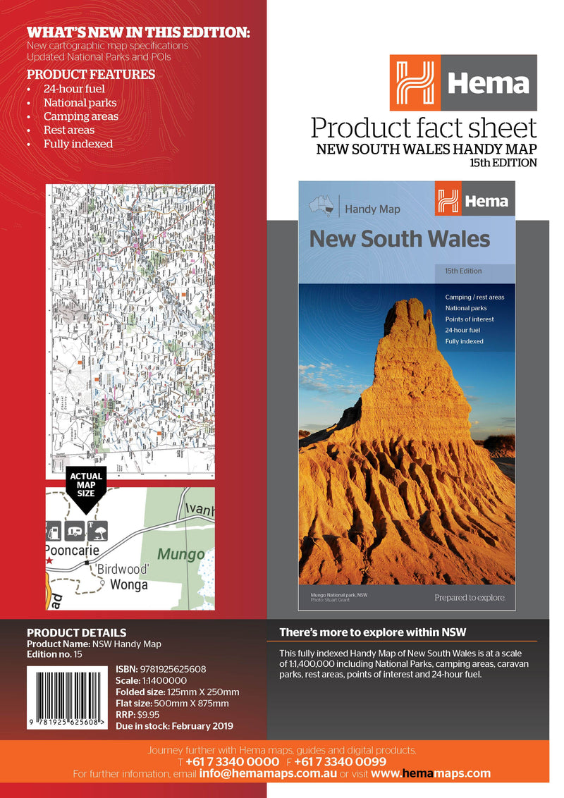 Hema Maps New South Wales Handy Map