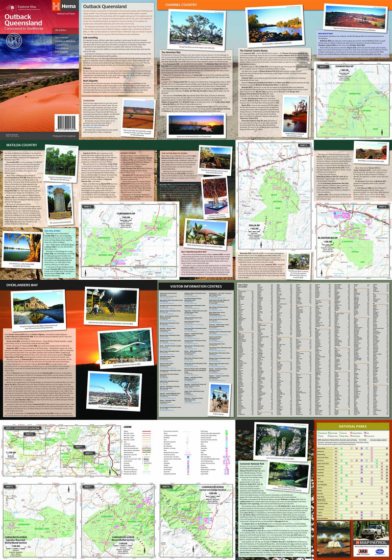 Hema Maps Outback Queensland Map