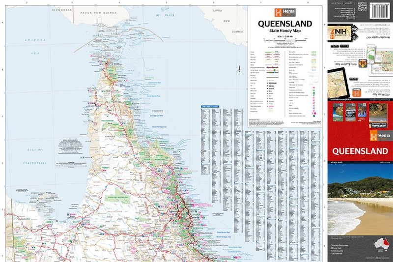 Hema Maps Queensland Handy Map
