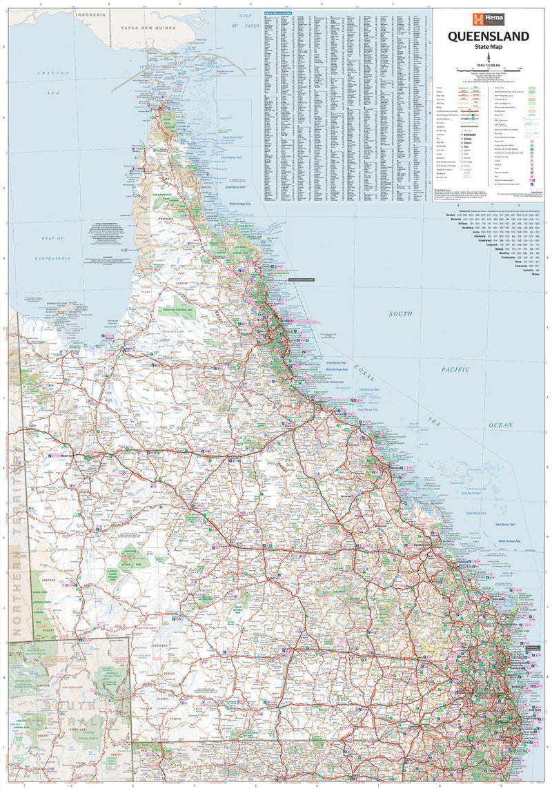 Hema Maps Queensland State Map