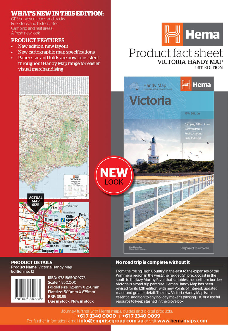 Hema Maps Victoria Handy Map