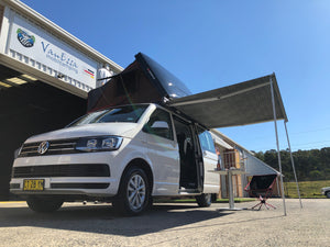 Dometic 2.6m wind-out Cassette Awning & Brackets for SWB Multivan, Transporter, & Caravelle