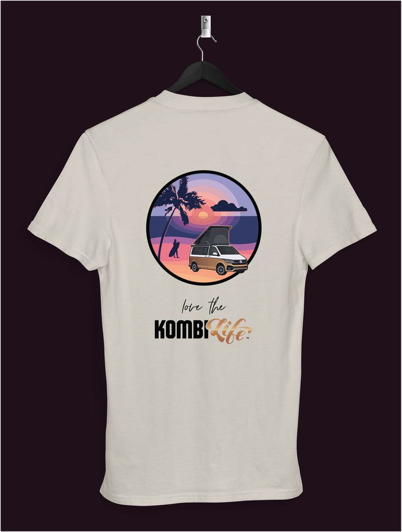 "KombiLife Women's T-shirt - ""Love the KombiLife"" - VW California Sunset Scene"