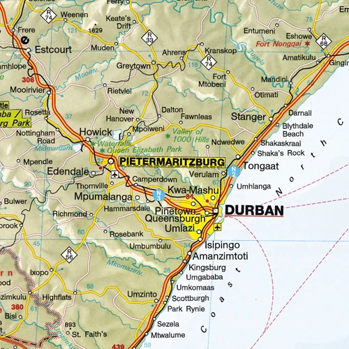 Hema Maps Southern Africa Deluxe Map