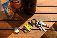 Load image into Gallery viewer, VW T2 Bus Keyring with Bottle Opener in Clister Packaging - Orange (D)
