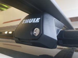 Thule 127cm Rails & Feet Kit for VW Caddy / Caddy MAXI - with ROOF RAILS - PAIR