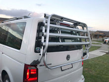 Load image into Gallery viewer, Original T6 Bike Rack from VW - 4 bikes - Genuine Volkswagen 7E0.071.104