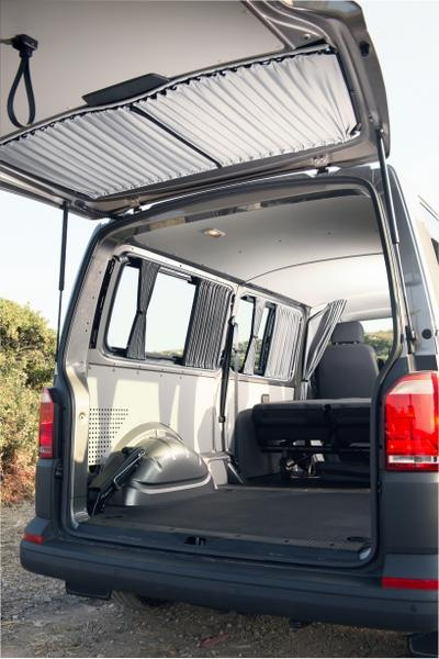 VW T5 & T6 Transporter Tailgate Curtain - Block Out Style