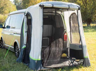 Premium Tailgate Tent with Floor and Mosquito Nets for VW T5 T6 Multivan, Transporter, or Caravelle