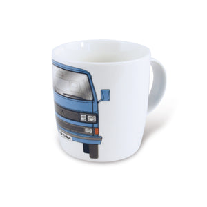 VW T3 Kombi Bus Coffee Mug 370ml in Gift Box - Blue