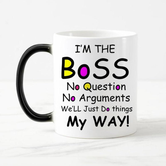 I'm The Boss Coffee Mug