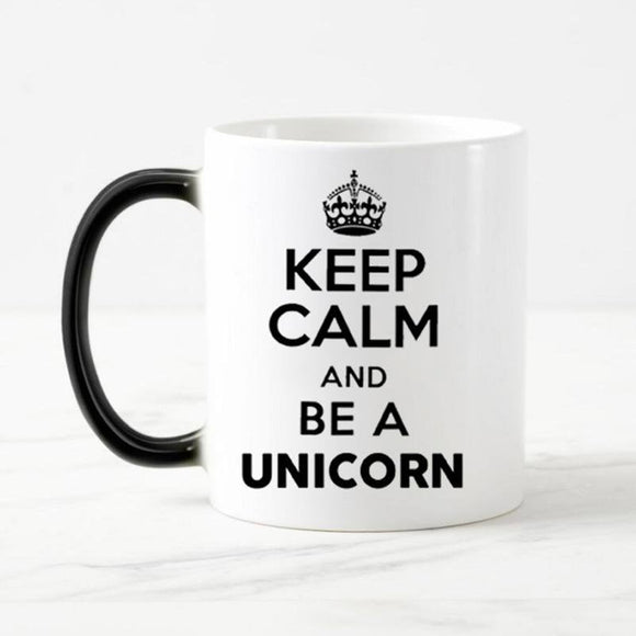 Keep Calm and be a Unicorn Coffee Mug
