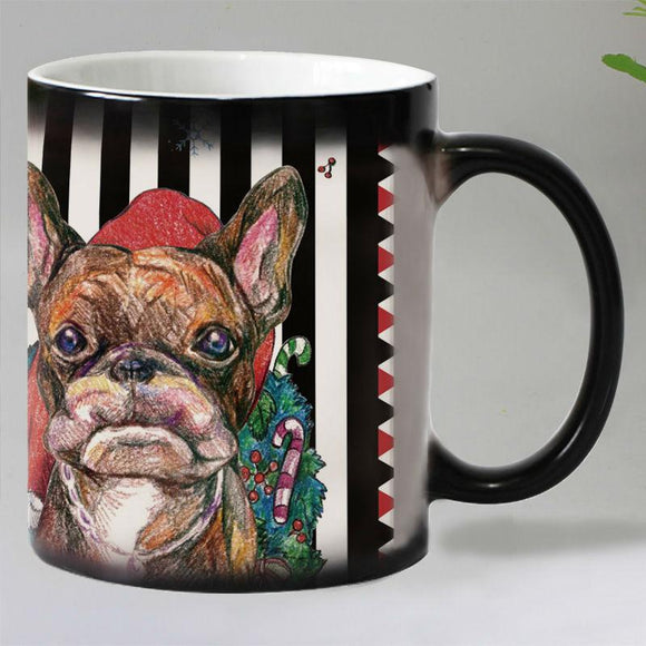Colorful Printed Dog Heat Sensitive Coffee Mug
