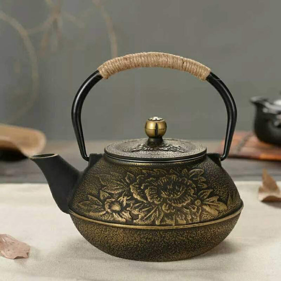 Japanese Uncoated Iron Teapot  800ml - One Lovely Sip