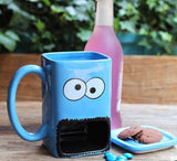 Colorful Cartoon Mug Cup With Cookie Pocket - One Lovely Sip