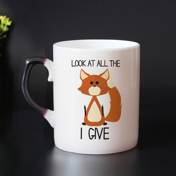 Funny Fox Design Heat Sensitive Mug - One Lovely Sip