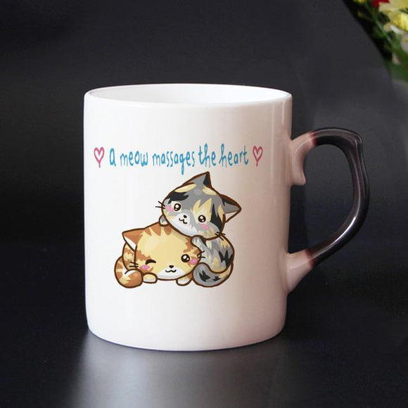Funny Cat Designs  Heat Sensitive Mugs - One Lovely Sip