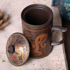 Traditional Chinese Purple Clay Tea Mug - One Lovely Sip