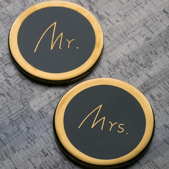 Luxurious Mr. & Mrs Coaster Design - One Lovely Sip