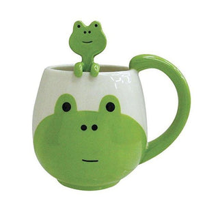 Beautiful Animal Tea and Coffee Mugs with Spoons - One Lovely Sip