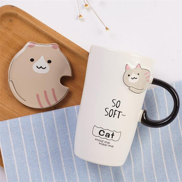 Creative 3D Porcelain Cat Cartoons - One Lovely Sip