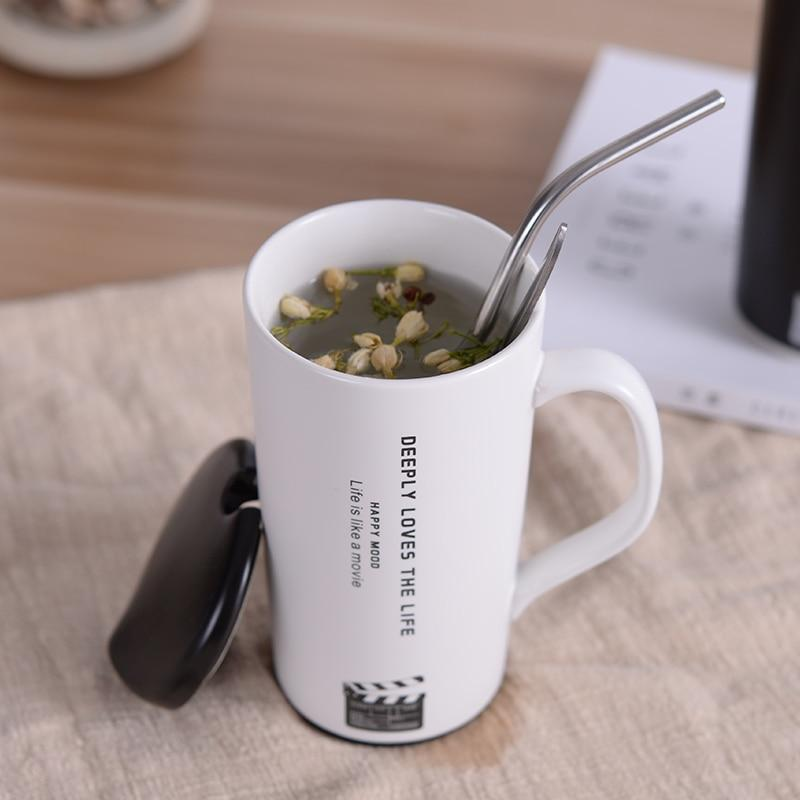 Creative Movie Mug Perfect for Special Gifts With Lid and Straw - One Lovely Sip