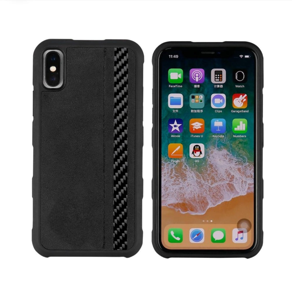 Carbofy® Alcantara/Carbon Fiber Case for iPhone X, Xs Max, High Quality Alcantara from Italy