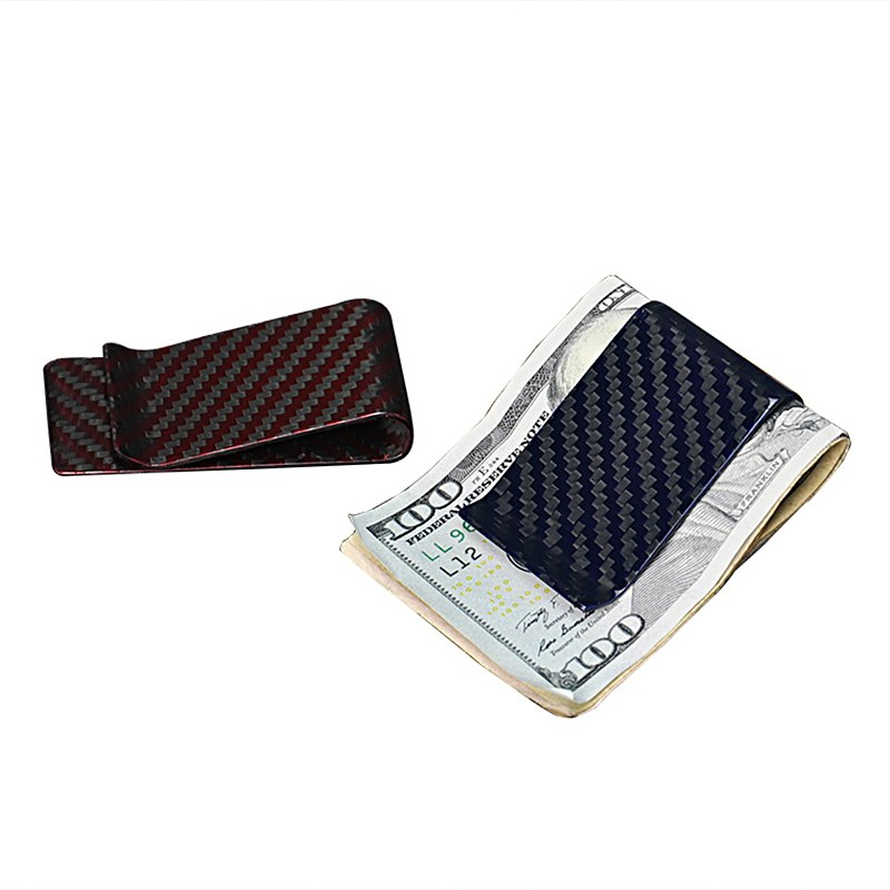 Carbofy®  Minimalist Genuine real Aramid Fiber Money Clip Portable Glossy Surface Wallets