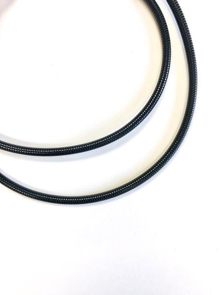 7ft Metal Phone Cord - Jet Black