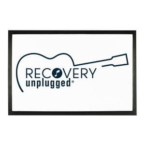 Recovery unplugged Rich Blue Logo Sublimation Doormat