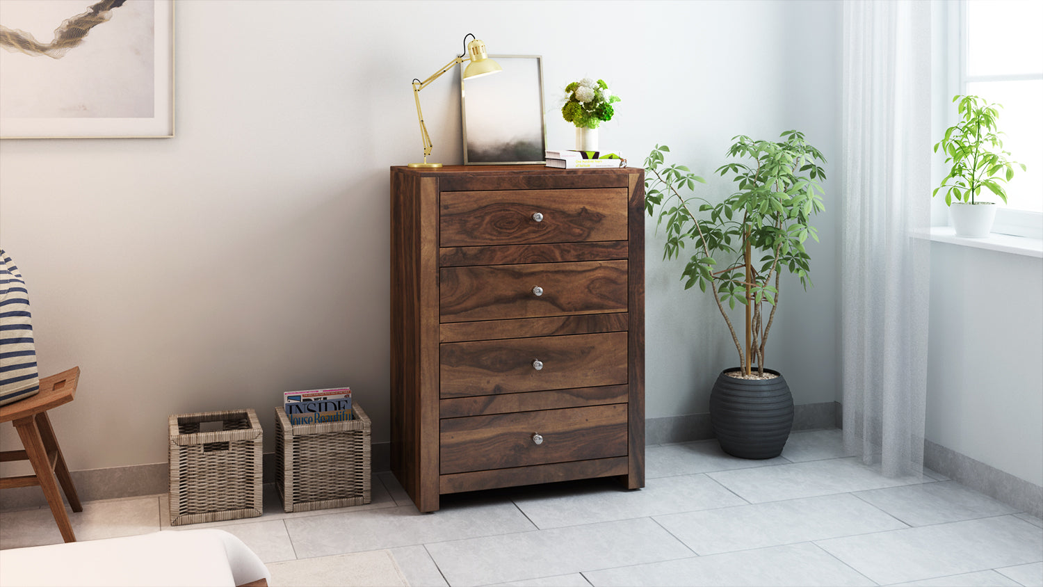 a9ead5d755d Buy Vilnius Sheesham Wood Chest of Drawers in India