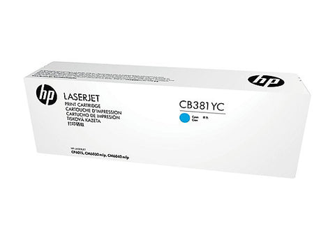 HP 824A (CB381YC) Color LaserJet CM6030 MFP CM6040 MFP CP6015 Optimized Yield Cyan Original LaserJet Contract Toner Cartridge (31000 Yield)