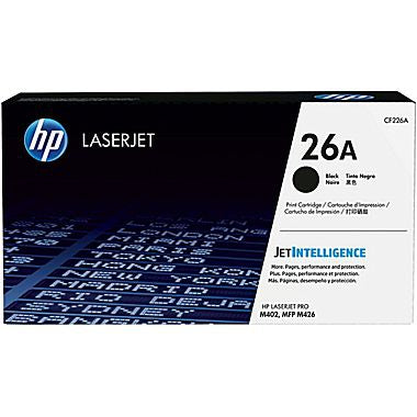 HP HP 26A (CF226A) Black Original LaserJet Toner Cartridge (3100 Yield)