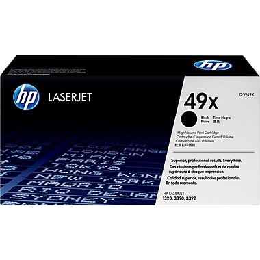 HP 49X (Q5949X) LaserJet 1320 3390 High Yield Black Original LaserJet Toner Cartridge (6000 Yield)