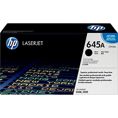 HP 645A (C9730A) Color LaserJet 5500 5550 Black Original LaserJet Toner Cartridge (13000 Yield)