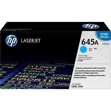 HP 645A (C9731A) Color LaserJet 5500 5550 Cyan Original LaserJet Toner Cartridge (12000 Yield)