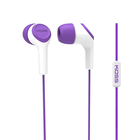 Koss Corporation  InEar Bud with Mic Purple