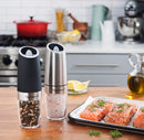 Automatic Gravity Activated Spice Grinder - Stainless Steel - Twin Pack