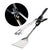 Grill Tongs & Spatula with Flashlight -Tonglite - Stainless Steel