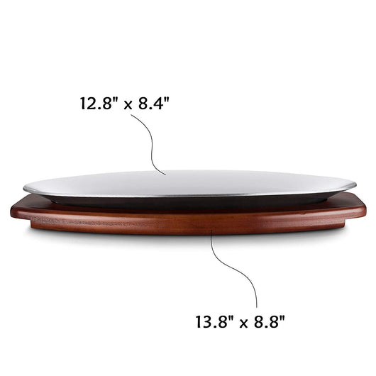 10 Inch Sizzling Platter with Wooden Underliner