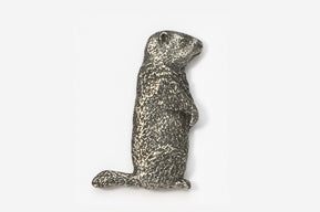Groundhog Pewter Pin