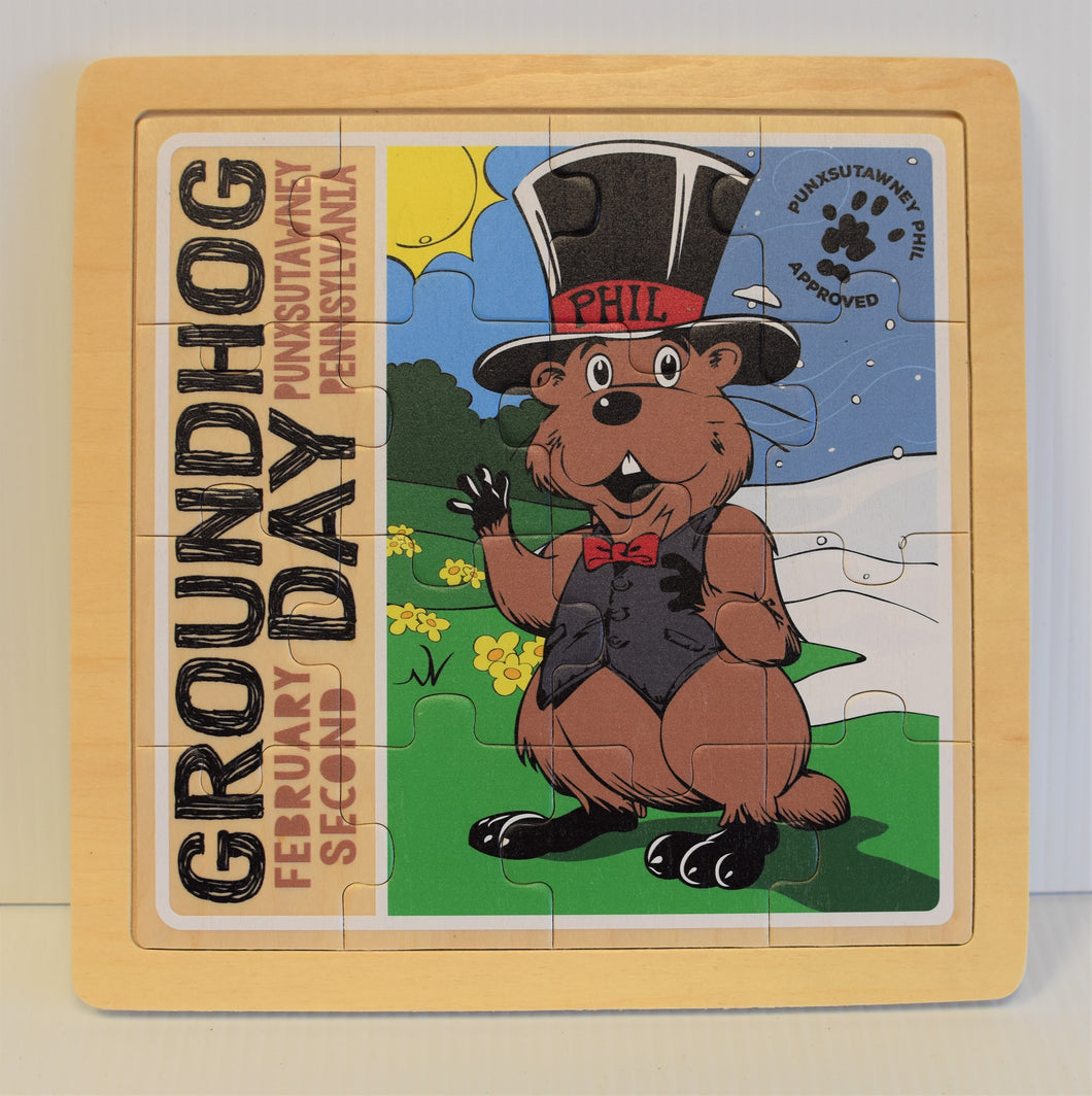 Groundhog Day Wooden Puzzle