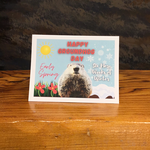 Groundhog Day Greeting Card (pack of 5)