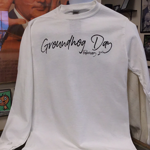 Groundhog Day Watercolor Long Sleeve