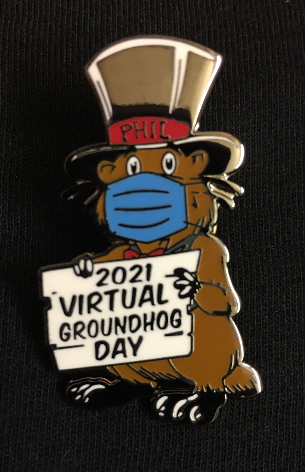 Lapel Groundhog Day 2021 Pin
