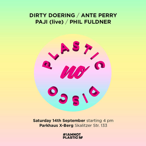 No Plastic Disco Flyer