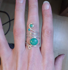 turquoise ring commission personalised jewellery silver